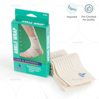 Ankle support wrap (2101) with Velcro fastener. Imported & Pre Checked for quality by Oppo medical USA | order online at heyzindagi.com
