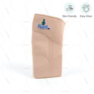 Easy to wear elbow sleeve (2080) by Oppo Medical USA. Suitable for all skin types | heyzindagi.com- a health & wellness site for differently abled