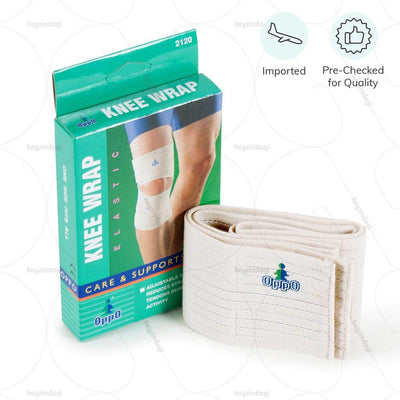 Oppo Medical elastic Knee Wrap ideal for weak knee joints and sprains or injuries. Designed with easy to use velcro fasteners, worn in a spiral pattern.