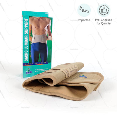 Lumbar support belt (1064) available in S-XXL sizes. Imported & Pre checked for quality by Oppo medical USA | EMI option available for payment at heyzindagi.in