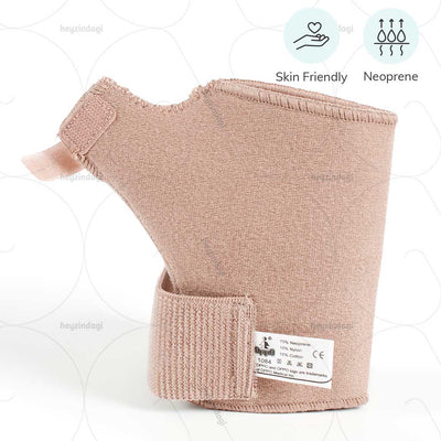 Skin friendly wrist and thumb support (1084) made with breathable neoprene material which improve the blood circulation and reduces mobility level to quicken healing - by Oppo Medical USA  | shop online at heyzindagi.in