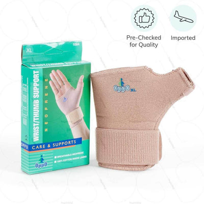 Imported wrist support & Pre checked for quality which helps to long term durability - by Oppo Medical USA | shop from Hey Zindagi