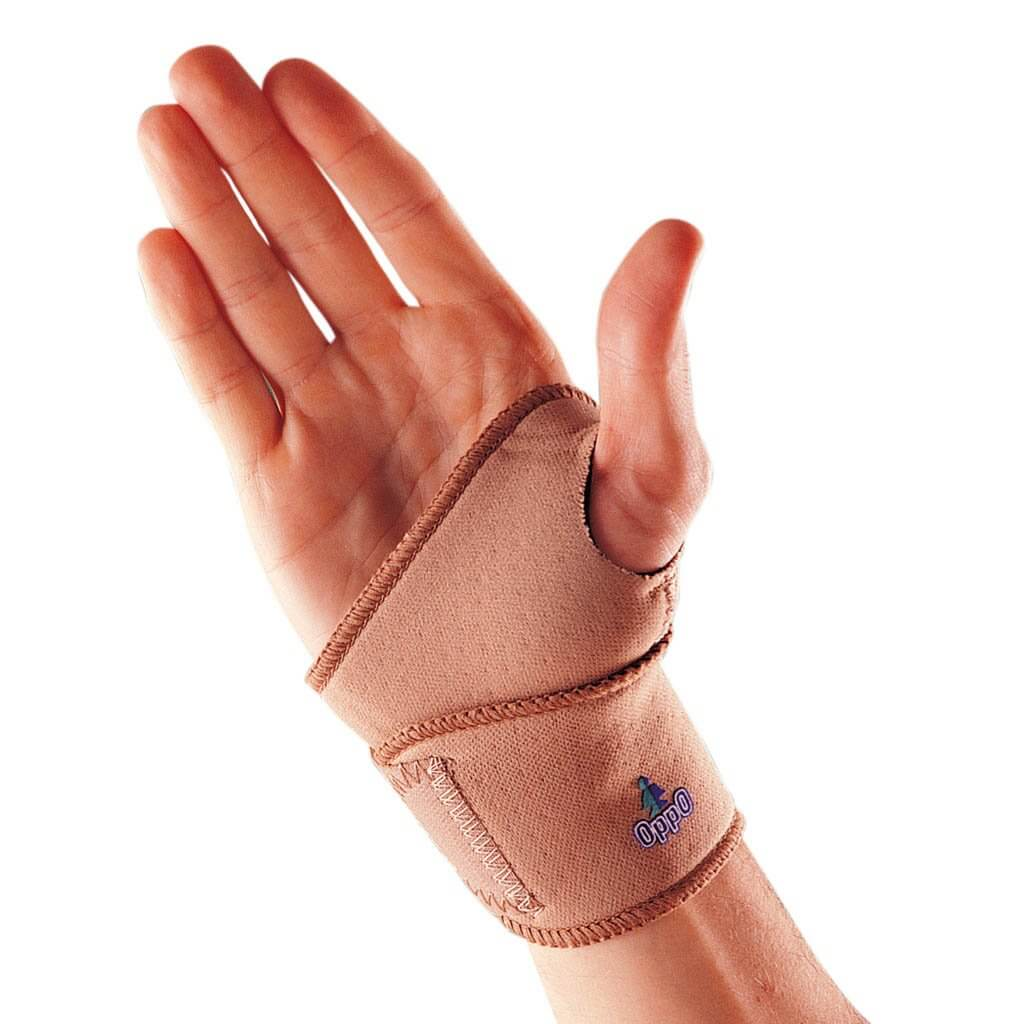 Wrist wrap with thumb lock to reduce pain and provide support during daily activities. Prevents further injury.