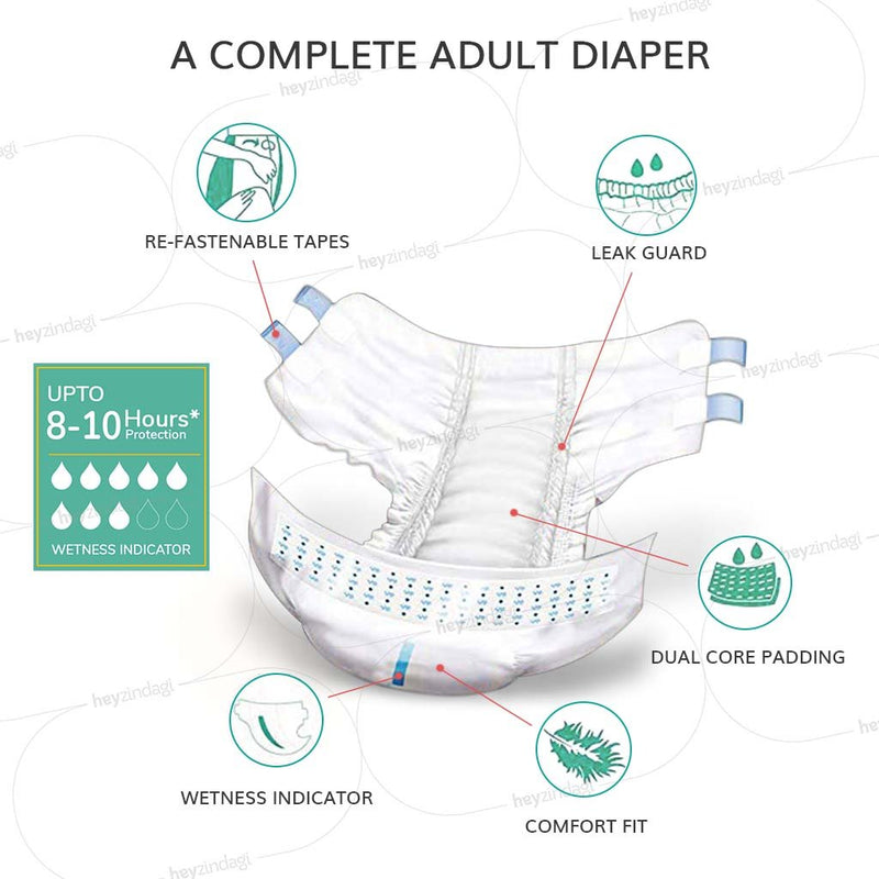 Magna Adult Diapers (10 diapers / pack): 3, 6 or 12 Saver Packs
