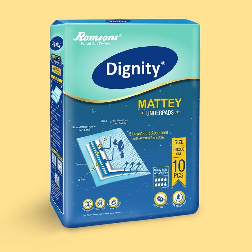 Dignity Mattey Underpads by Rosmsons India | Order online at Heyzindagi.in