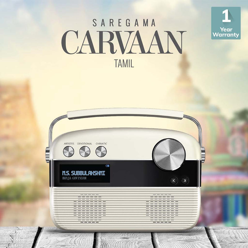 Carvaan Tamil Digital Music Player with Remote (SRGMCR03PW) by Saregama India