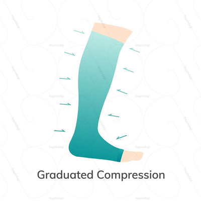 Graduated compression stockings by Sorgen India. Available in S/M/L/XL/XXL sizes | heyzindagi solutions - a health and wellness site for senior citizens in India