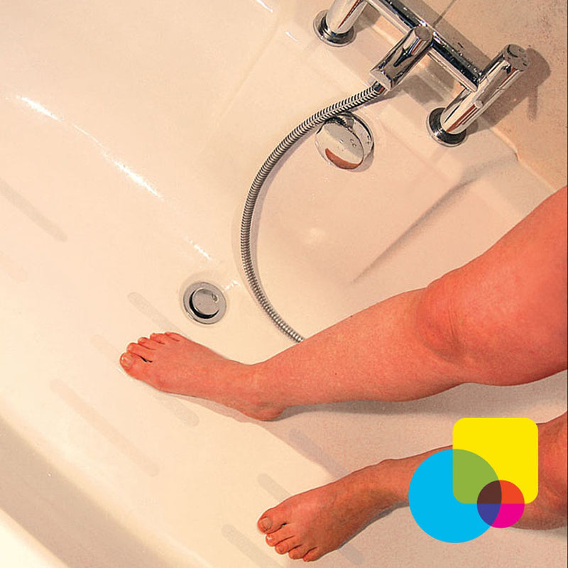 Aqua Clear Anti-Slip Strips for Bathrooms