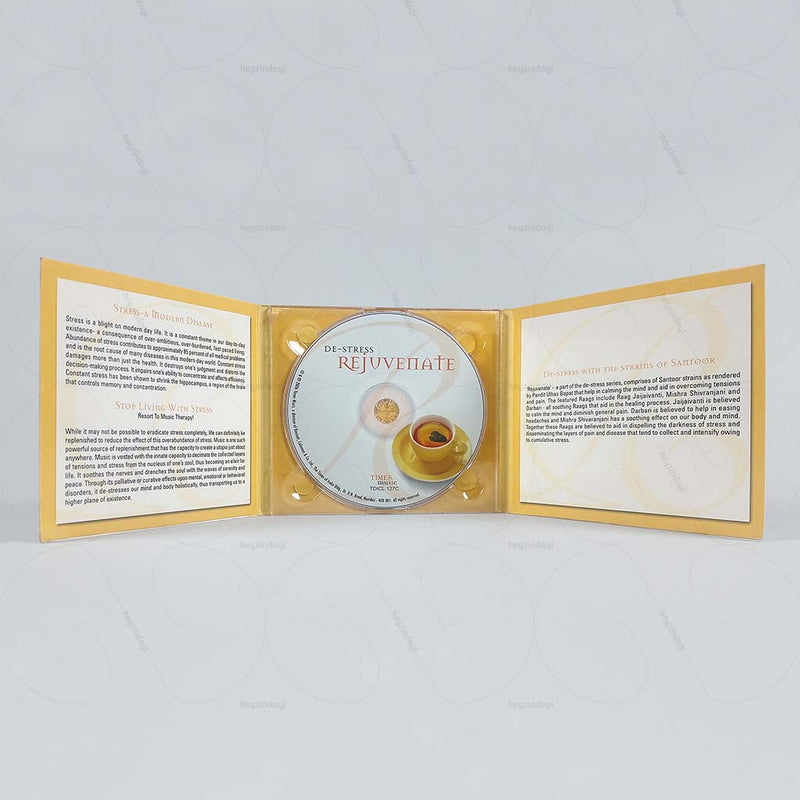 De-Stress Rejuvenate - Santoor by PT. Ulhas Bapat (Audio CD)