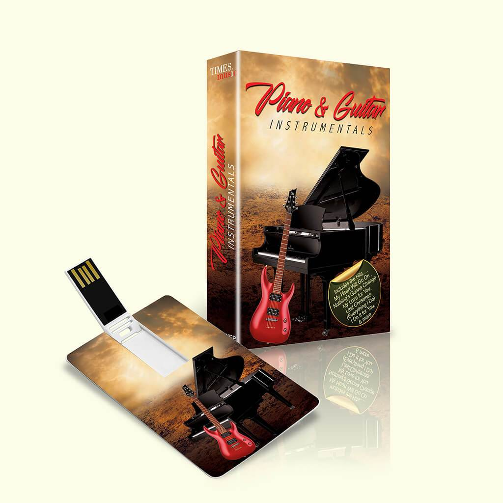 Piano and Guitar Instrumental (USB Music Card)