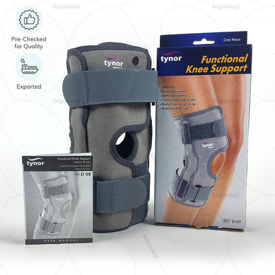 Knee brace for osteoarthritis (D09BAZ) - Pre Checked for Quality & Exported by Tynor India | heyzindagi solution- an online store for elders & differently abled