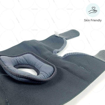 Skin Friendly elastic knee brace  (D08BAZ) that allows normal bending of knees in case of an injury- manufactured by Tynor India | available at heyzindagi.com