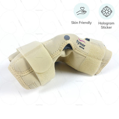 Hinged knee support (J01BAZ) by Tynor India. Breathable nylon fabric for comfortable compression | available at heyzindagi.com