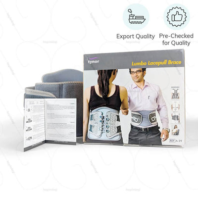 Lumbar sacral belt for comfortable use at home or at work. Exported & pre checked for quality by Tynor India | heyzindagi.com- shipping available all over India
