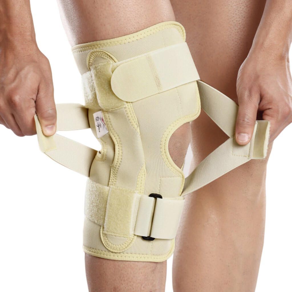OA Hinged Knee Neoprene Support for Valgus J08BG  (Knock knee) by Tynor India | Heyzindagi.com