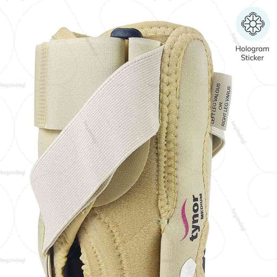 Support for Genu valgum correction (J08BG)- light compression & an improved blood circulation, with Tynor India hologram | buy at heyzindagi.com