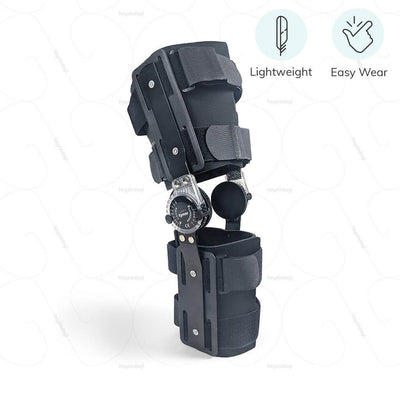 Wide range of motion knee brace by Tynor India. Lightweight body & designed for easy wear | shop online at heyzindagi.com