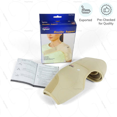 Shoulder compression sleeve (J14UGZ) for injuries in seniors. Exported & Pre Checked for Quality by Tynor India | heyzindagi.com- shipping done all over India