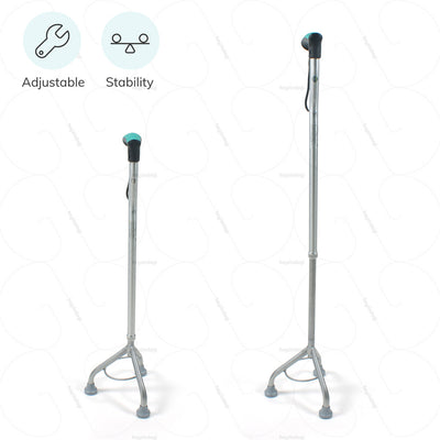 Adjustable walking stick L32UDZ for maximum stability by Tynor India | heyzindagi solutions- a health & wellness site for differently abled