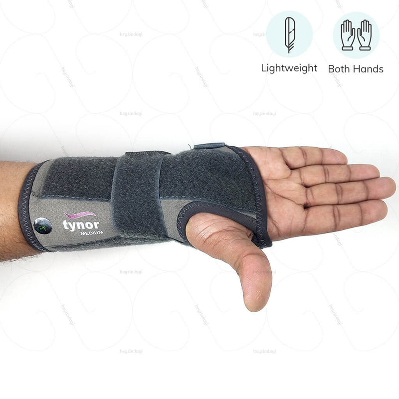 Wrist splint ambidextrous E43BBZ by Tynor India to support orthopedic issues of wrist | heyzindagi.com