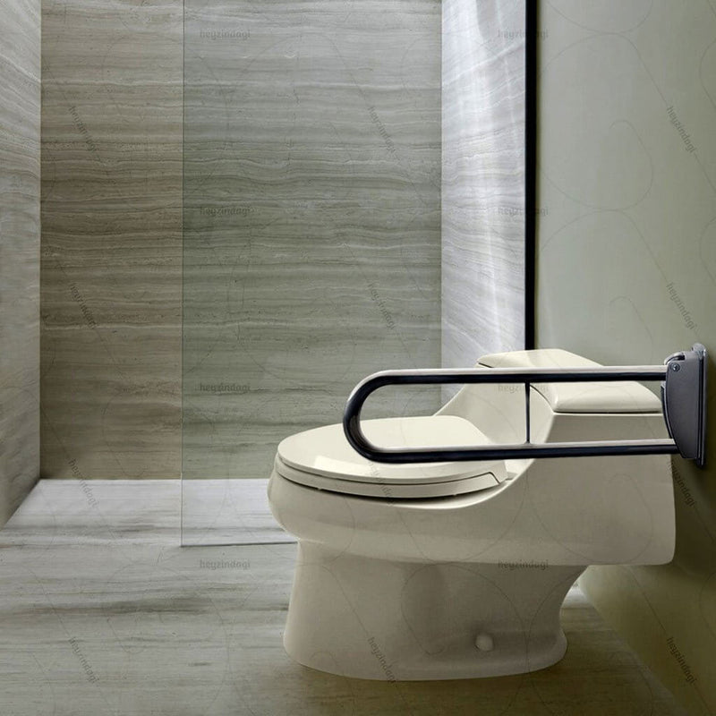 "Heavy Duty Folding Stainless Steel Grab Bar (Wall Mounted / Large - 30"")"
