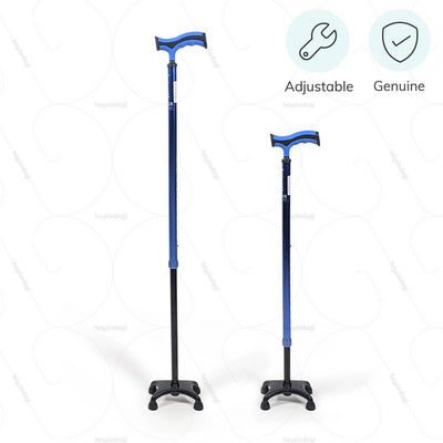 Height adjustable walking stick (2909) to assure correct posture.100% genuine product by Vissco India | Available at HeyZindagi.com