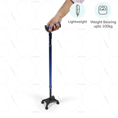Lightweight walking stick for disabled (2909) by Vissco India. Capable of weight bearing up to 100kgs | www.heyzindagi.com