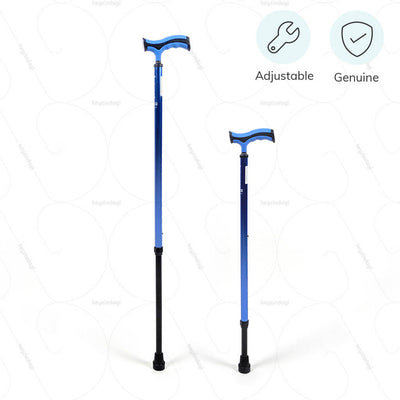 Adjustable walking stick (2911) with comfortable grip. 100% genuine product manufactured by Vissco India | heyzindagi.com- shipping done all over India