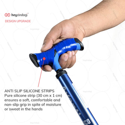 Walking sticks for disabled (2911) by Vissco India. T-shaped handle for comfortable grip | buy at best price from heyzindagi.com