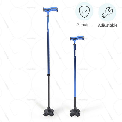 Adjustable walking stick (2909) for correct posture. 100 % genuine product manufactured by Vissco India | buy online at heyzindagi.com