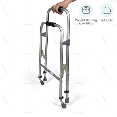 Foldable walker (2901) by Vissco India. Weight bearing  capacity up to 100kg   | www.heyzindagi.com