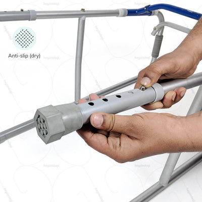 Walker for handicapped (2937) by Vissco India. Anti slip ferrules to prevent accidental falls on wet surfaces | shop online at heyzindagi.com