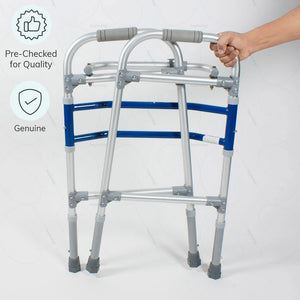 Aluminum walker (2901) to improve body balance. 100% Genuine & pre-checked for quality by Vissco India - Heyzindagi.in-EMI option available
