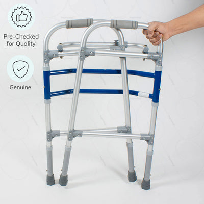 Aluminum walker (2901) to improve body balance. 100% Genuine & pre-checked for quality by Vissco India - Heyzindagi.com-EMI option available