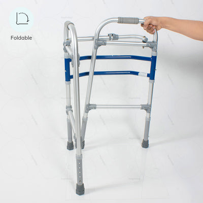 Foldable Walker (2901) by Vissco India. Can be easily carried to work or while travelling | Heyzindagi.com- a health & wellness site for differently abled