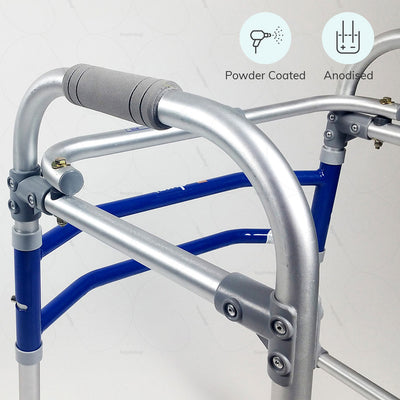 Walkers  for Elderly (2901) by Vissco India. Powder Coated & Anodized to prevent rusting | Shop at Hey Zindagi