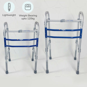 Lightweight mobility walker (2901)  by Vissco India. Weight bearing capacity up to 120 kg | Buy online at heyzindagi.in
