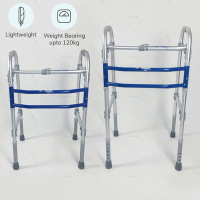 Lightweight mobility walker (2901)  by Vissco India. Weight bearing capacity up to 120 kg | Buy online at heyzindagi.com