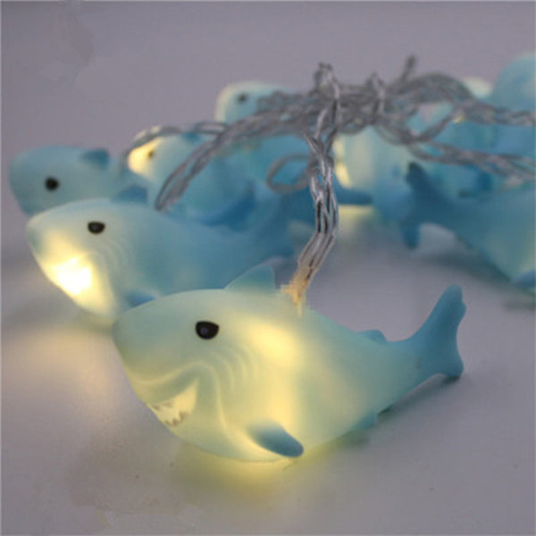 10 Led 1 8m Christmas Decoration Led Shark Shape Blenfy