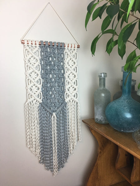 Ella / Grey Dyed Macrame Wall Hanging