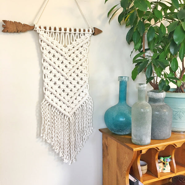 E. Hazel - Boho Macrame on an Arrow Dowel