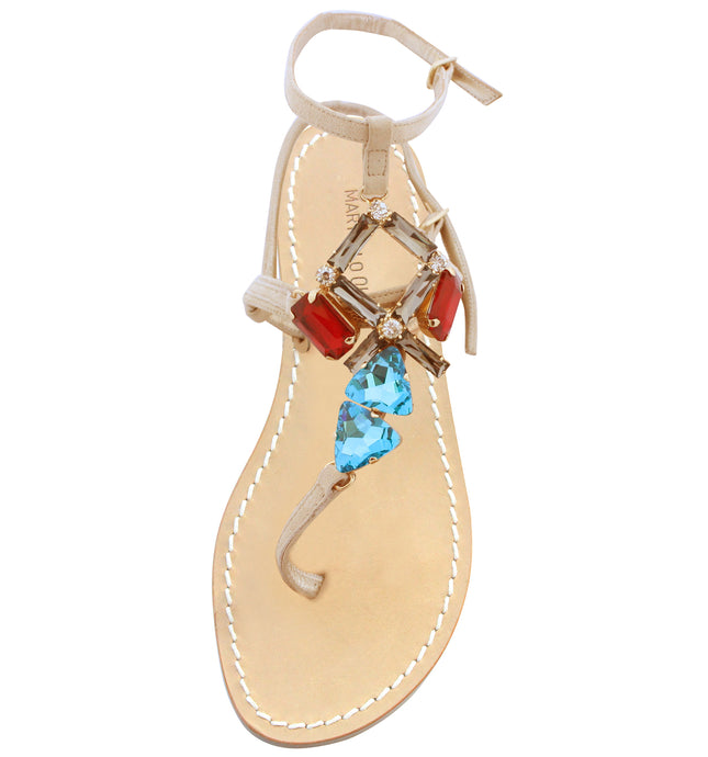 Swarovski Leather Sandals