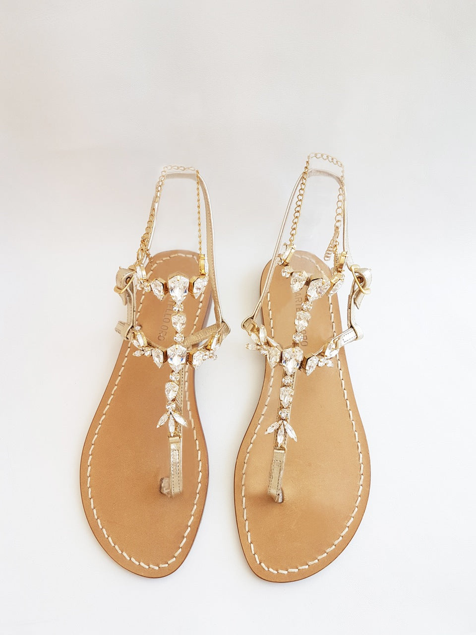 Martello Oro, Crystal sandals, Bridal sandals, party sandals, wedding sandals, Swarovski sandals