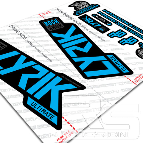 Rock Shox LYRIK 2020 ULTIMATE Mountain Bike Cycling Decal Sticker White Camo