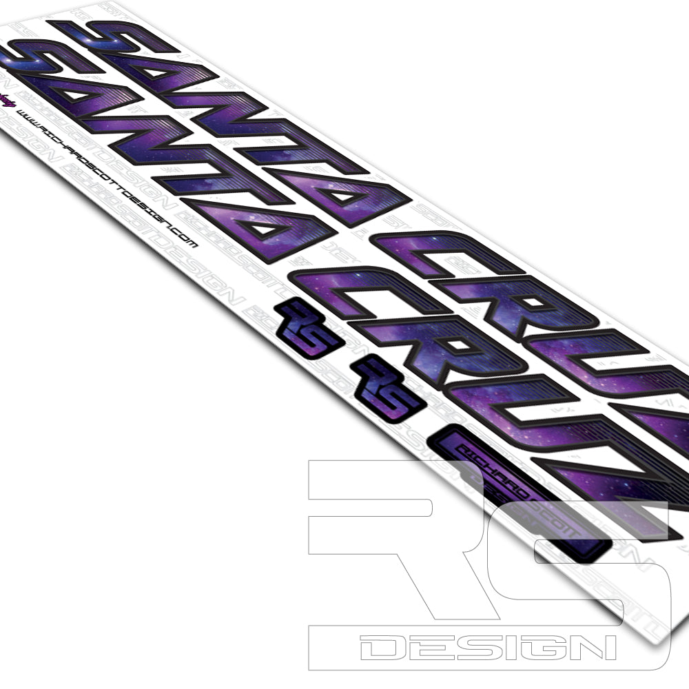 Santa cruz galaxy decal kits