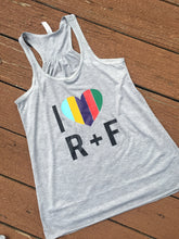 R + F Colored Heart Racerback