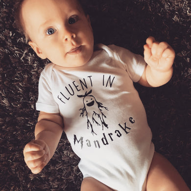 Fluent In Mandrake Harry Potter Onesie