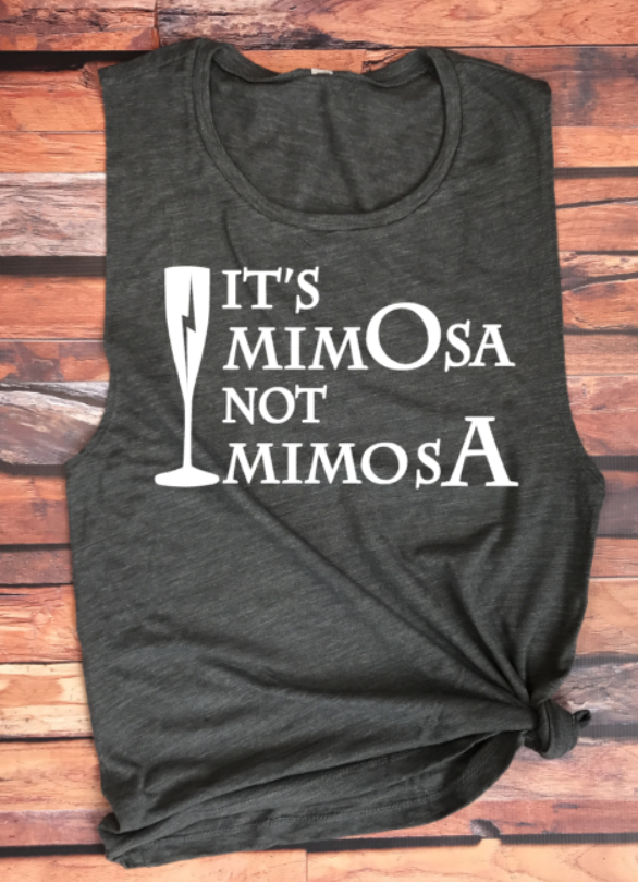 It's Mimosa Not Mimosa Women's Muscle Tank