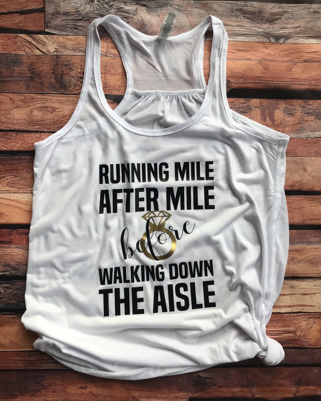 Running Mile After Mile Bridal Tank