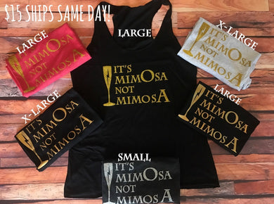 Ready To Ship MimOsa Tank